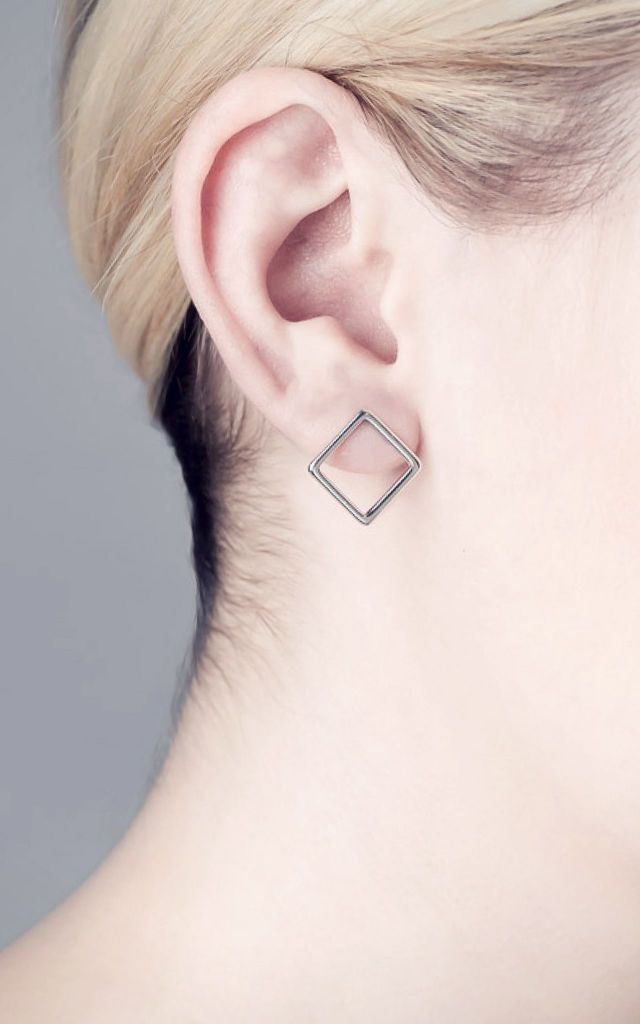 Hollow Square Earrings by Libby May