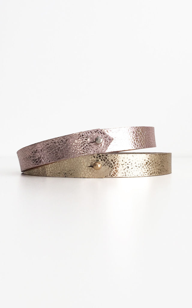 Pink Leather Choker by Isabel Wong