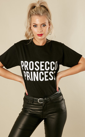 PROSECCO PRINCESS T-SHIRT IN BLACK by Love