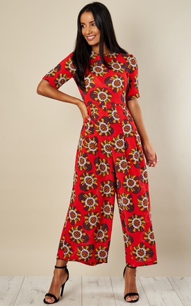 Can't Help But Smile   Bianca Jumpsuit   Red by Traffic People Product photo