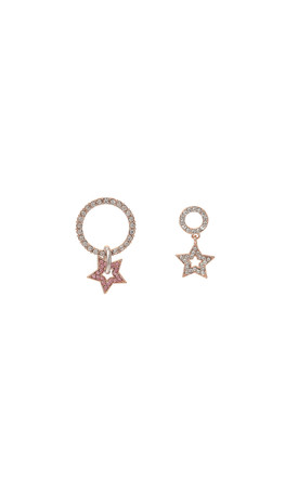 Asymmetric Star Cubic Earrings Pink by DOSE of ROSE