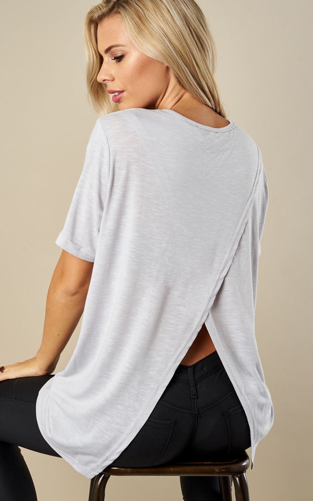 Grey Cross Back T-Shirt by India Gray