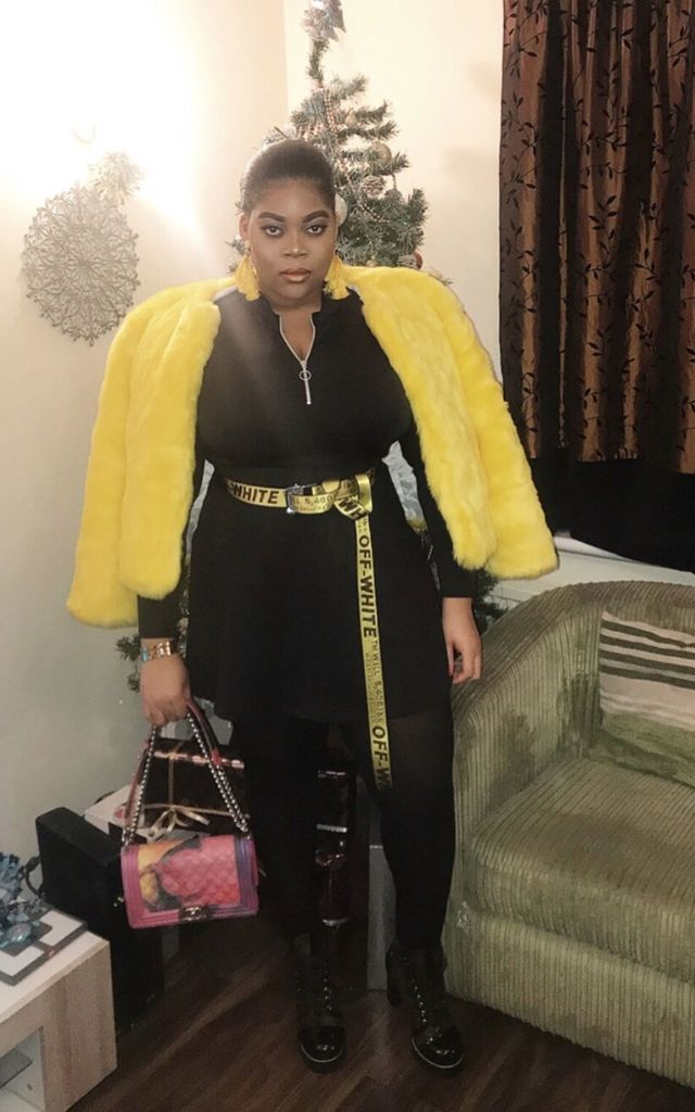 Premium Yellow Faux Fur Coat by V Karla Onochie