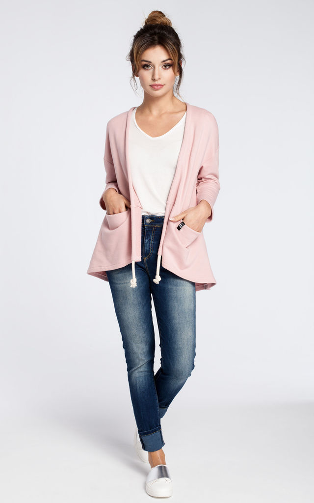 Casual Blazer with Pockets in Powder Pink by MOE