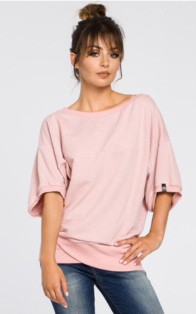 Powder oversized blouse with front wrapped by MOE