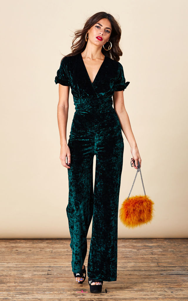 Roscoe Jumpsuit in Pine Green image
