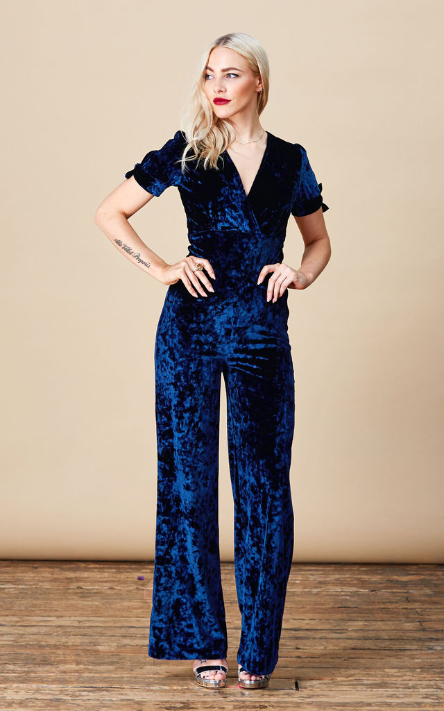 Roscoe Jumpsuit in Navy Blue image