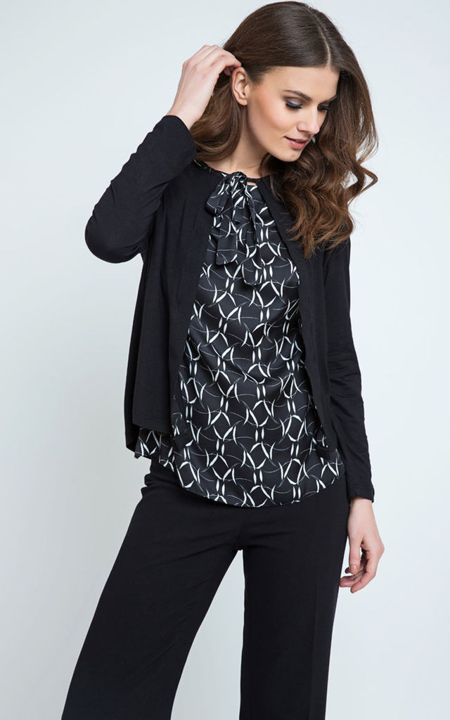 Cardigan With Pattern DEtail by Conquista Fashion