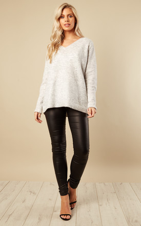 Grey V Neck Jumper by VILA Product photo