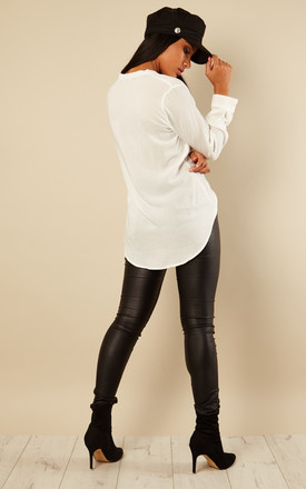 White Long Sleeved Shirt by VM