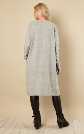 Grey Long Sleeved Open Cardigan by VM