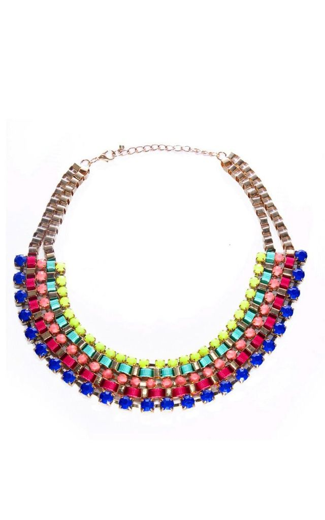 Pansy Multi Colour Statement Necklace by Emi Jewellery