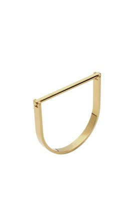 Gold U Cuff Bracelet by Opes Robur