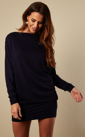 Navy Batwing Dress by Bella and Blue Product photo