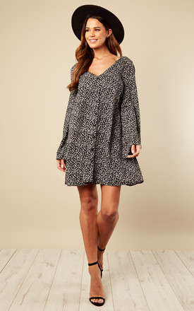 Ditsy Black Floral Long Sleeve Dress by Glamorous Product photo