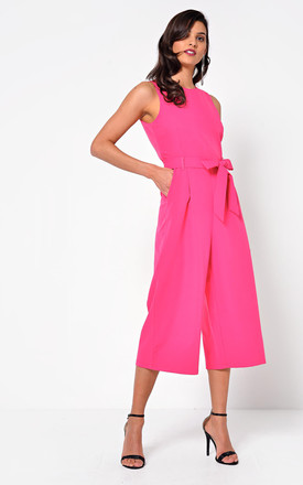 Culotte Jumpsuit in Pink by Marc Angelo