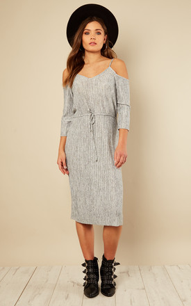 Cold Shoulder Tie Waist Midi Dress by India Gray Product photo