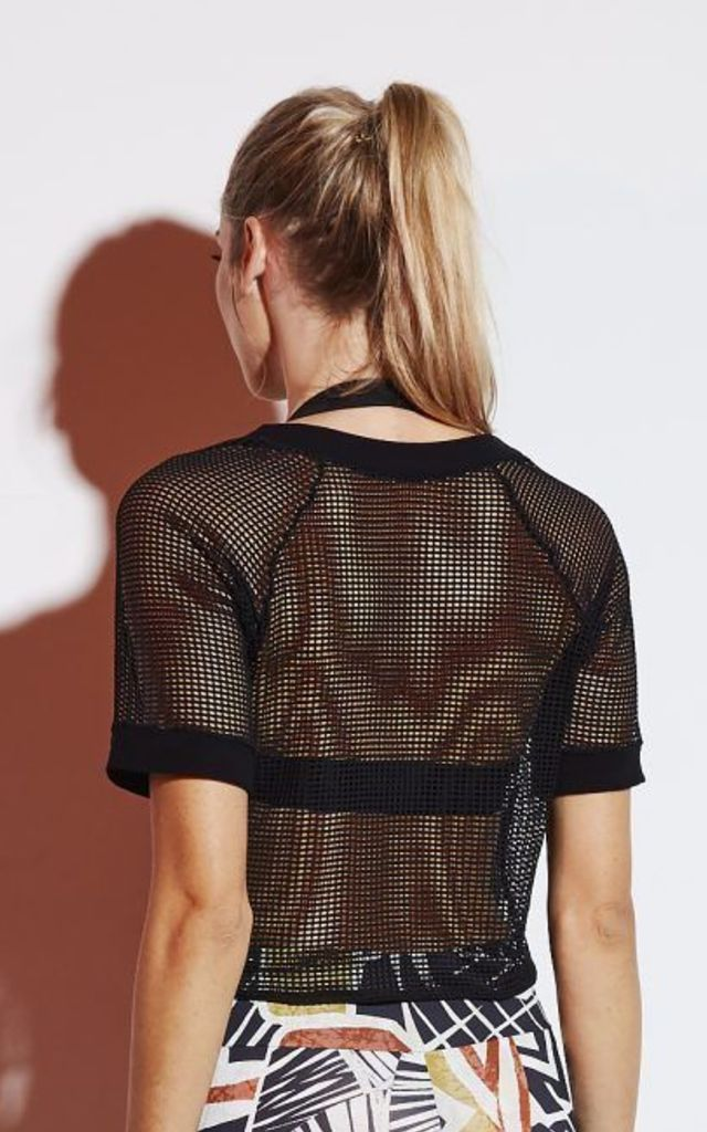 CROPPED MESH TEE by Mirelle Activewear
