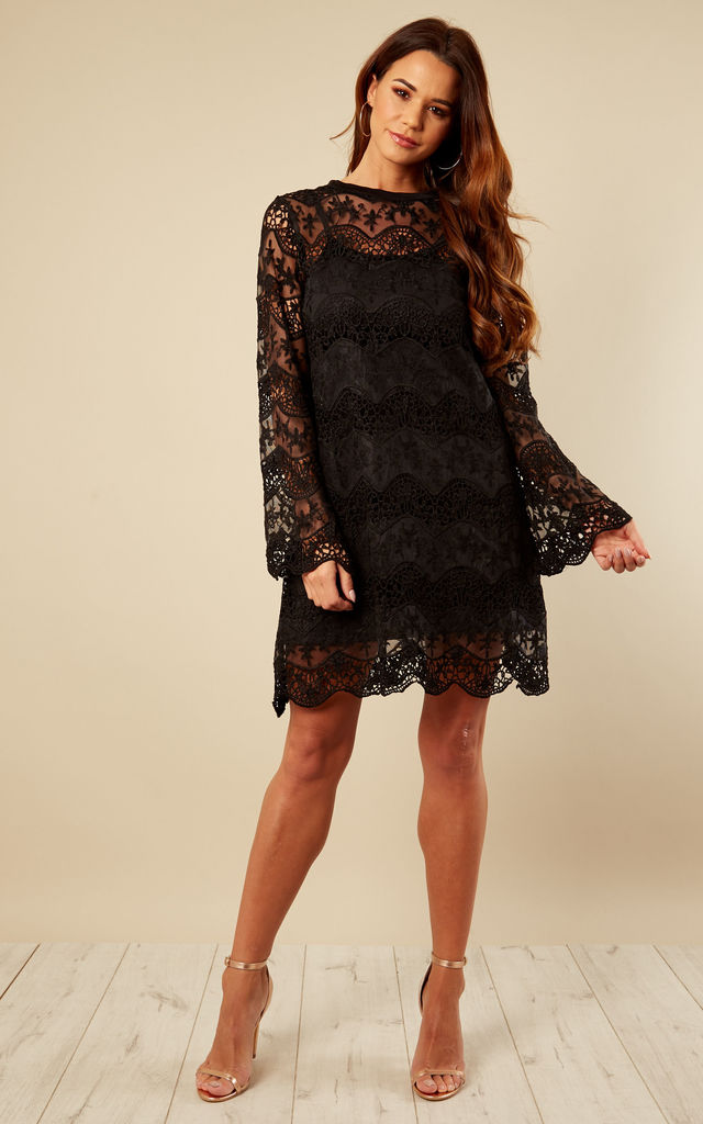Black Lace Shift Dress by Lilah Rose