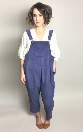 Handmade Navy Corduroy Dungarees by Vintage Style Me