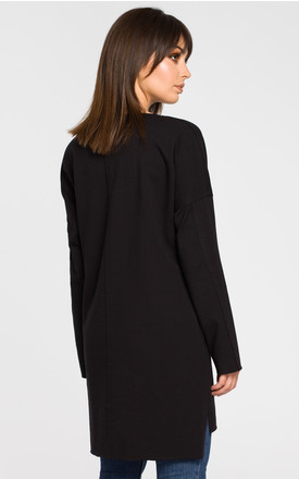 Black oversized tunic dress by MOE
