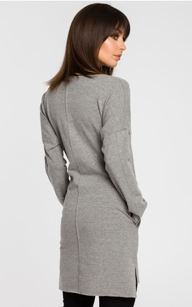 Grey oversized tunic dress by MOE
