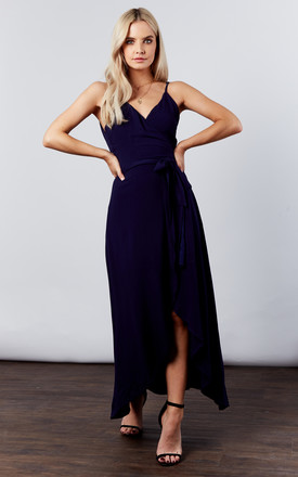 Navy Ankle Wrap Dress by If By Sea Product photo