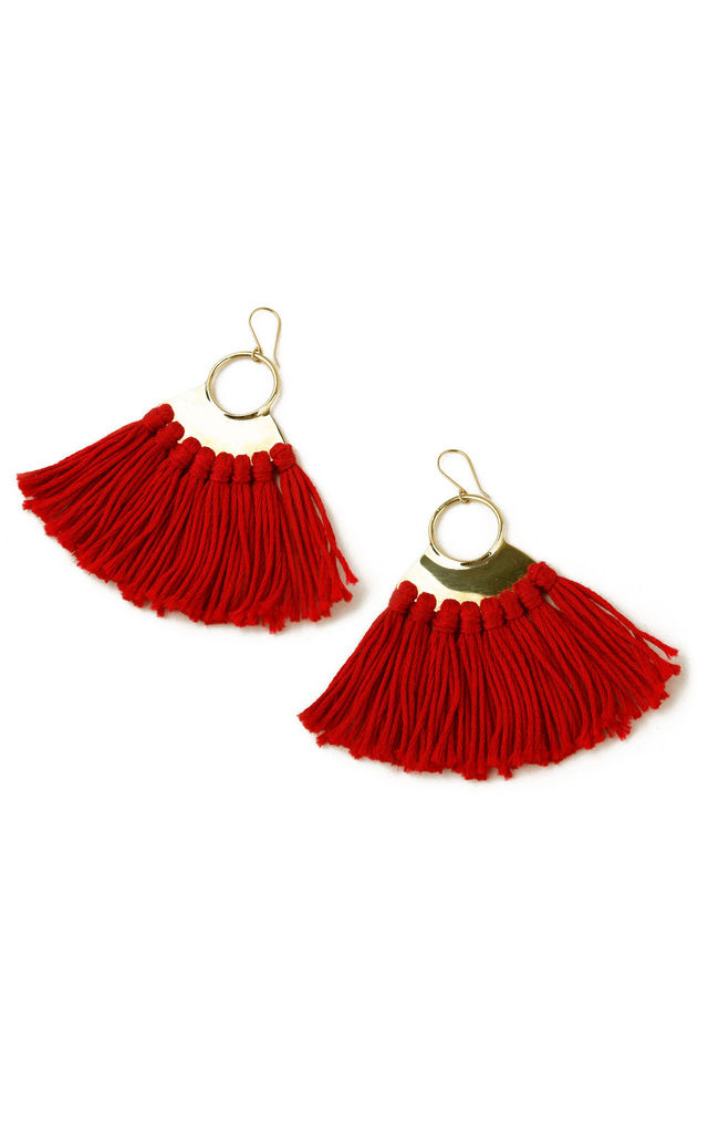 Pindo Earrings - Lipstick Red by SNAZZY LONDON