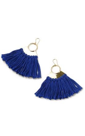 Pindo Earrings - Electric Blue by SNAZZY LONDON