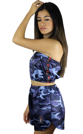 'Evolve' Satin Blue Camo Co-ord **Limited Edition** by Find the Light