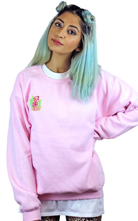 Pink Seahorse Logo Patch Sweatshirt by HEBA Clothing