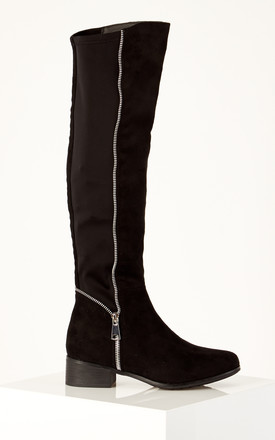 Black Knee High Boots by Truffle Collection Product photo