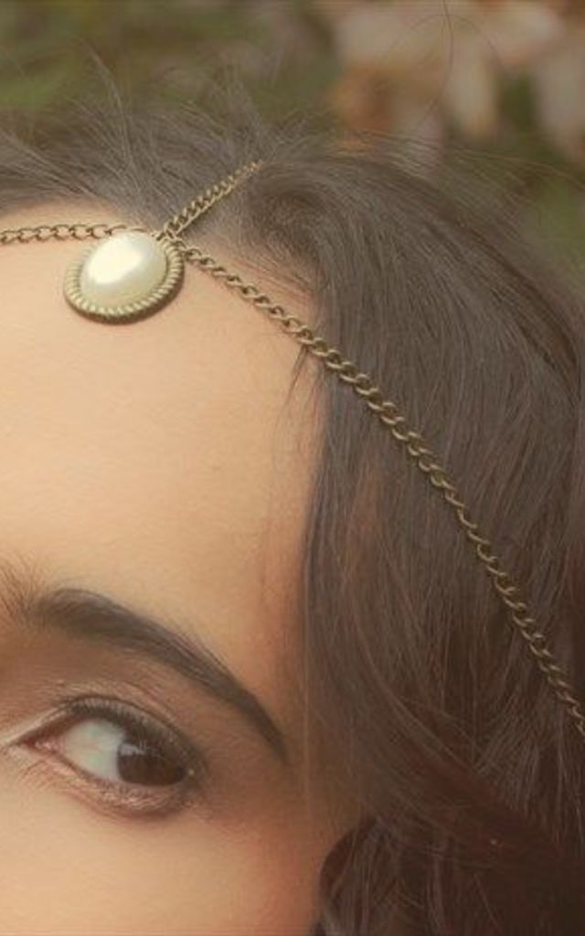 Alice pearl droplet 3 way headpiece by Kate Coleman