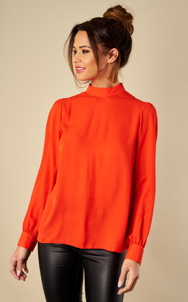 Button Down Back Top Blood Orange by Love Product photo