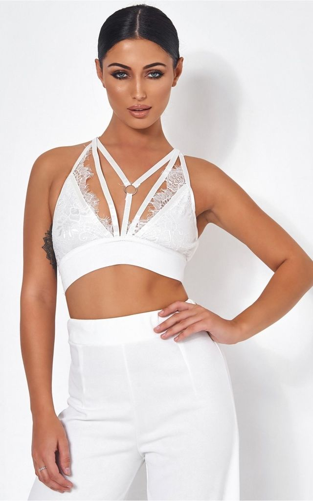 2324a2c1cbe7c Tallulah White Lace Harness Bralet by The Fashion Bible