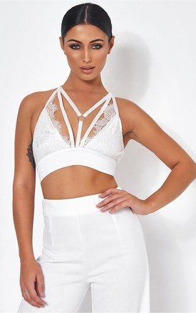 Tallulah White Lace Harness Bralet by The Fashion Bible