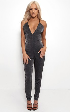 Gigi Black Sparkle Jumpsuit by The Fashion Bible