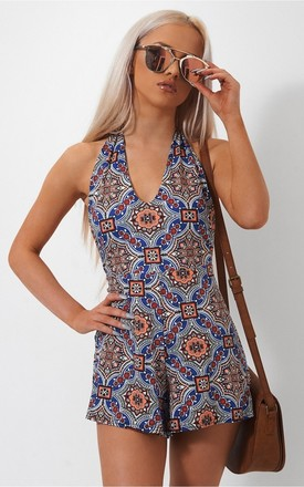 Taiga Bohemian Backless Playsuit by The Fashion Bible