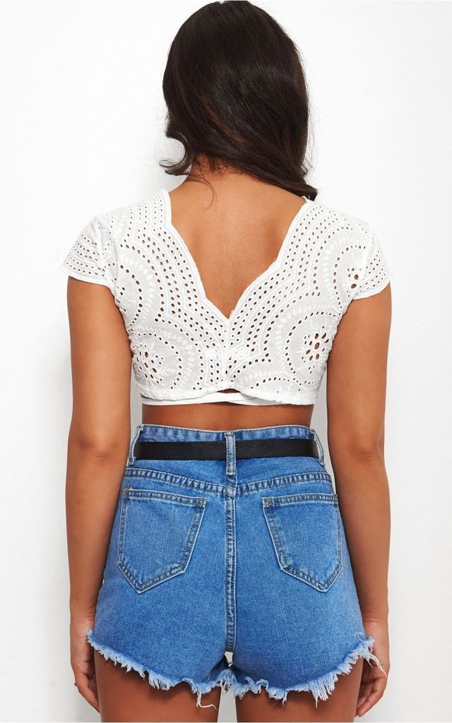 Liv White Multiway Crop Top by The Fashion Bible
