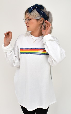 G&G Chunky Rainbow Cuffed Long Sleeve Top by Goose & Gander Product photo