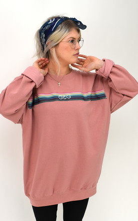 G&G Dusky Opera Ribbon Sweater in Pink by Goose & Gander