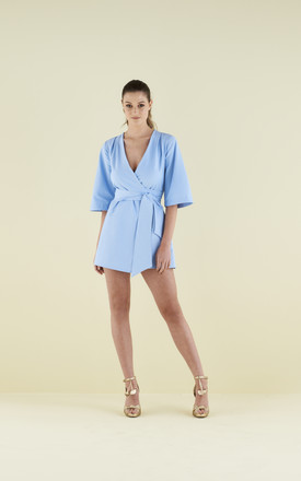 Mary-H-Wrap / Kimono in Pale Blue by COCOOVE