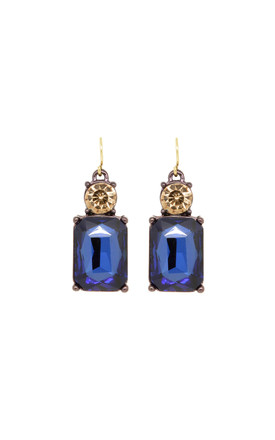 Simple Gem Earring In Navy And Amber by LAST TRUE ANGEL Product photo