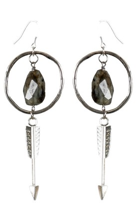 Labradorite-Hoop-Arrow-Earrings-Sari-Collection by Tiana Jewel