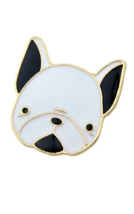 'The Frenchie' Bulldog Pin Broach by Helix and Felix