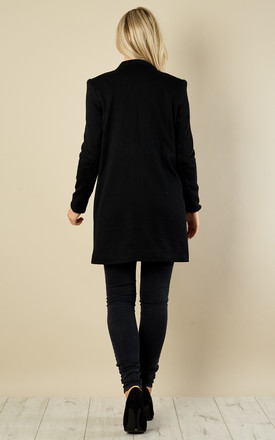 Black long blazer with pockets by VM