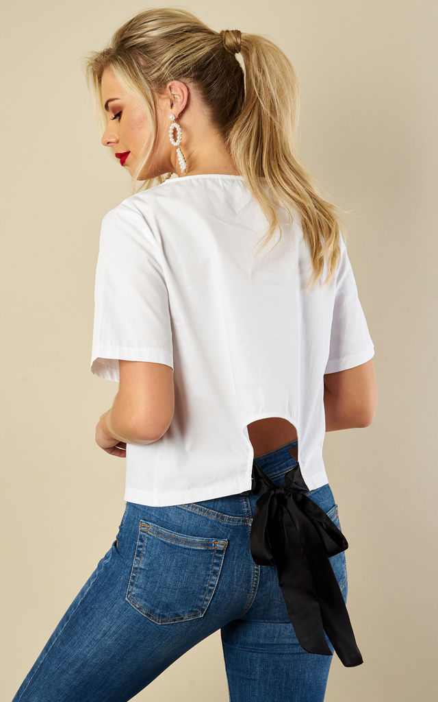 Ivory tie back top by Bella and Blue