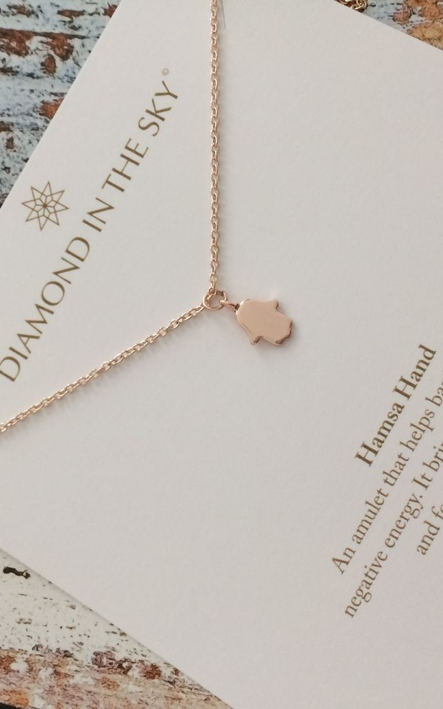 Rose Gold Hamsa Necklace by Diamond in The Sky