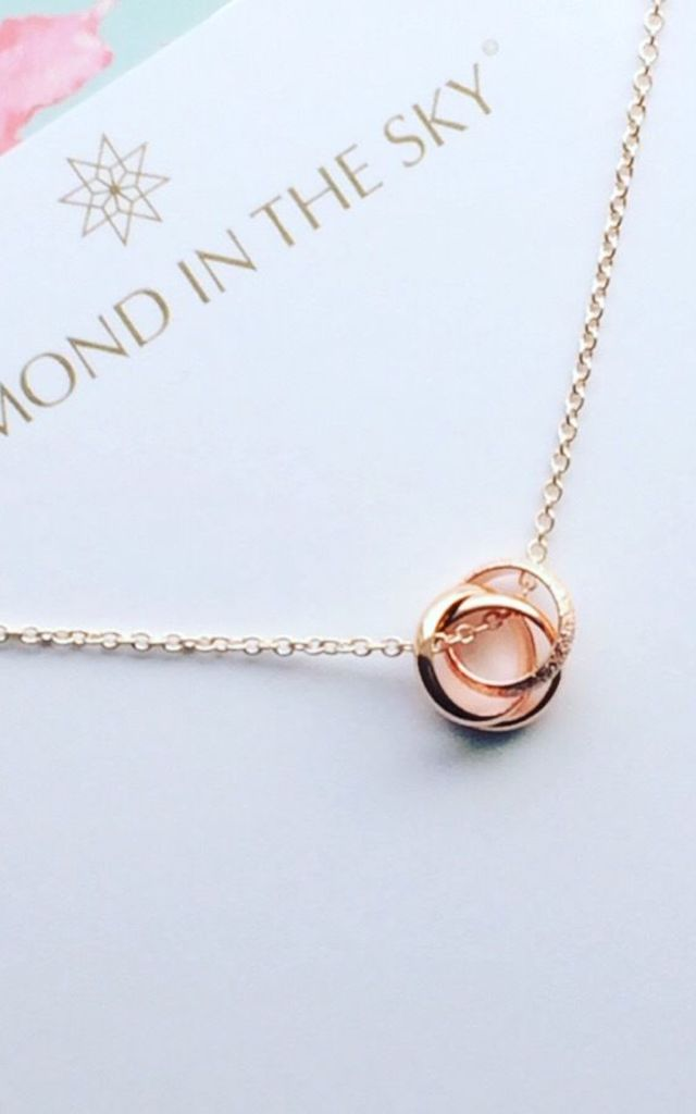 Rose Gold Circles Necklace by Diamond in The Sky