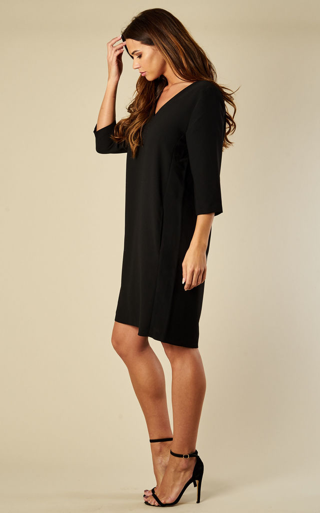 BLACK V NECK DRESS by Selected Femme
